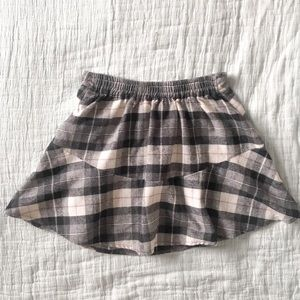 Plaid Flair Mini Skirt with Elasticized Waist